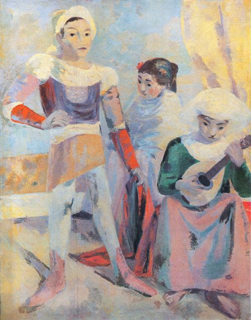 Max Gubler. Sizilianische Schauspieler. 1925/26. Öl auf Leinwand. 183 x 149 cm