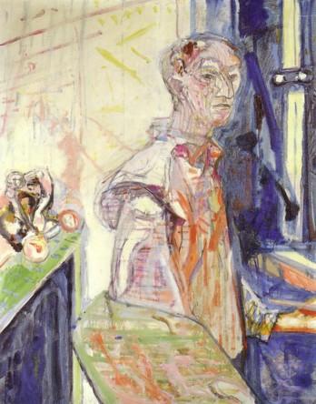 Selbstbildnis Unterengstringen, 1952 Oel auf Leinwand, 162 x 130 cm Nicht bezeichnet Kunstmuseum Solothurn Kunstmuseum Solothurn Werkkatalog Nr. 1729