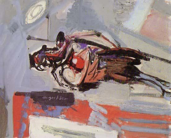 """Liegender Fasan Unterengstringen, 1957 Oel auf Leinwand, 50 x 61 cm Bezeichnet links unterhalb der Mitte: """"M Gubler"""" Privatbesitz Werkkatalog Nr. 2155"""